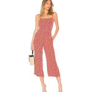 Faithfull the Brand Playa Jumpsuit Red Floral XS